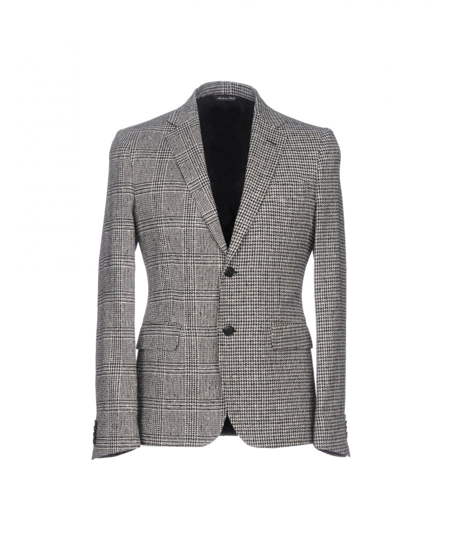 Image for Brian Dales Black Houndstooth Wool Single Breasted Jacket