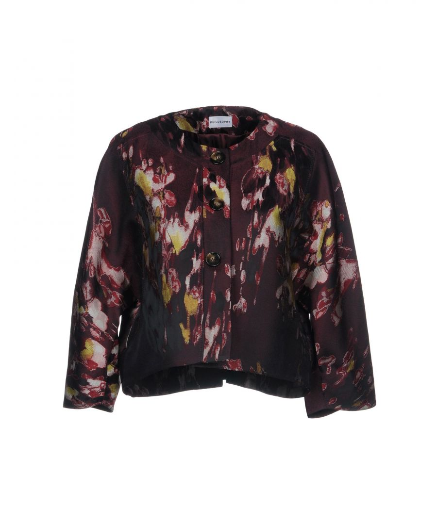 Image for Philosophy Di Alberta Ferretti Deep Purple Jacquard Jacket