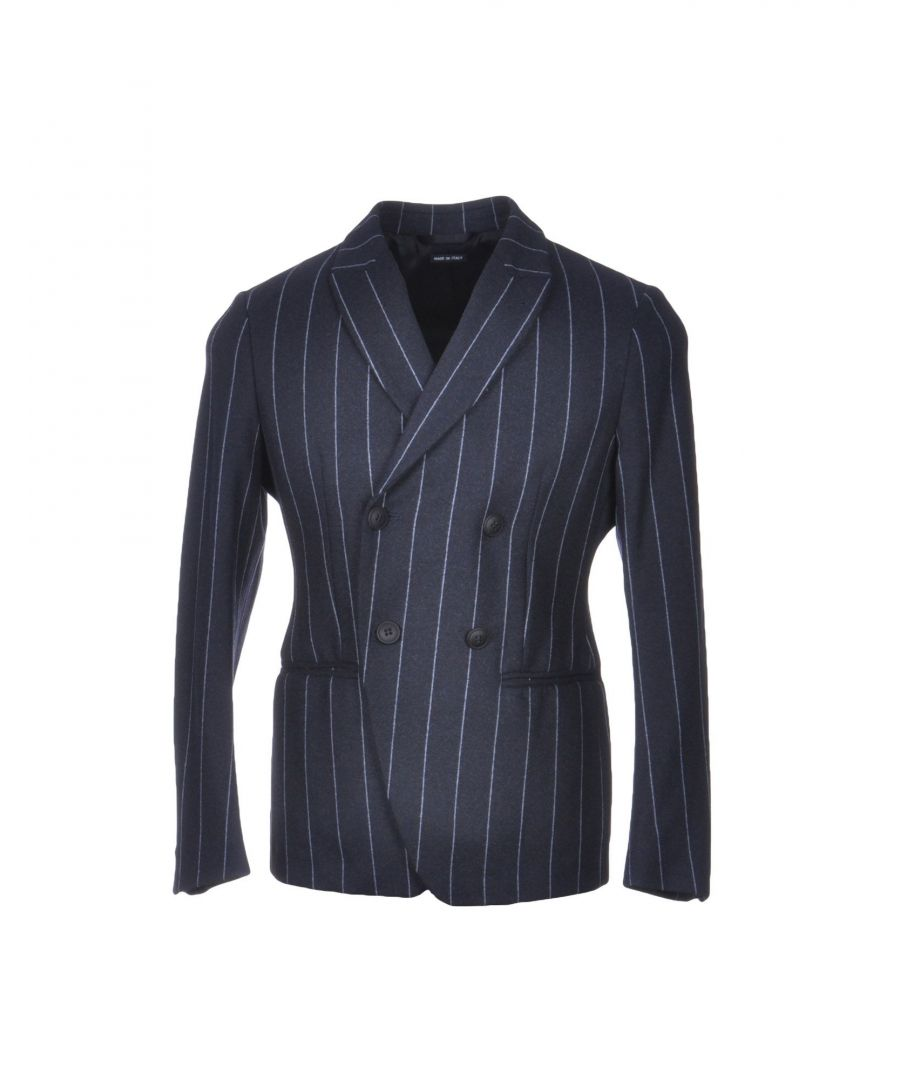 Image for Giorgio Armani Blue Pinstripe Double Breasted Jacket