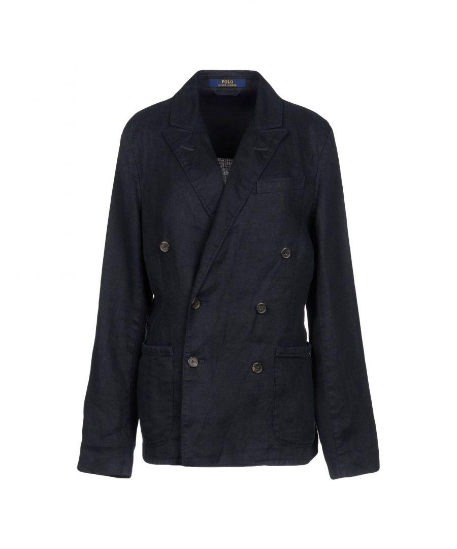 Image for Polo Ralph Lauren Dark Blue Linen Double Breasted Blazer