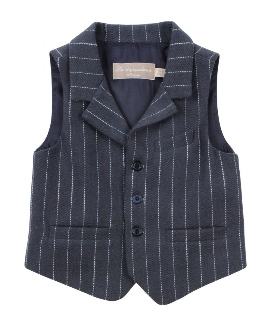 Image for SUITS AND JACKETS La Stupenderia Steel grey Boy Cotton