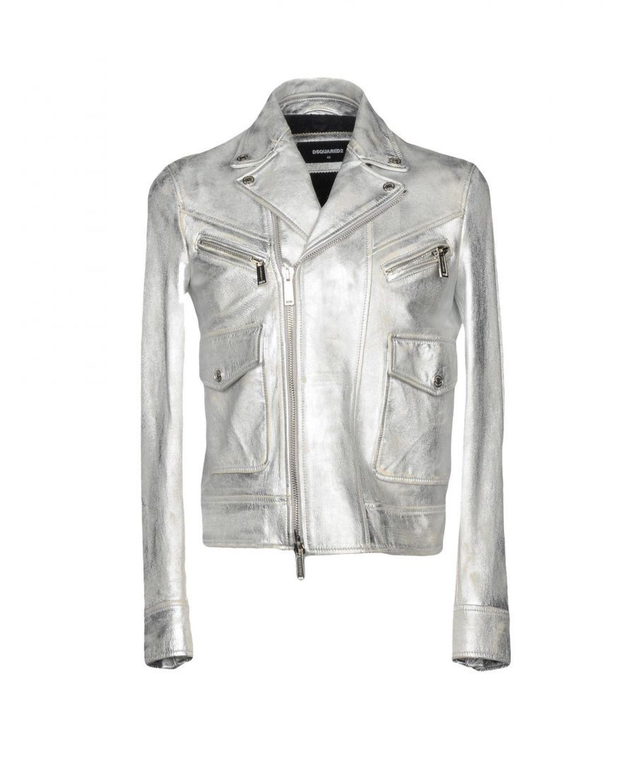 Image for Dsquared2 Silver Leather Jacket