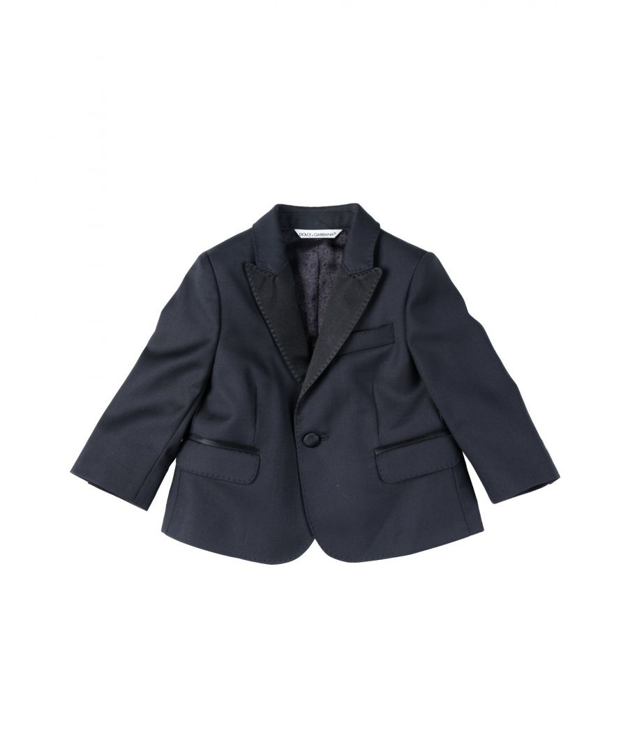 Image for SUITS AND JACKETS Boy Dolce & Gabbana Dark blue Virgin Wool