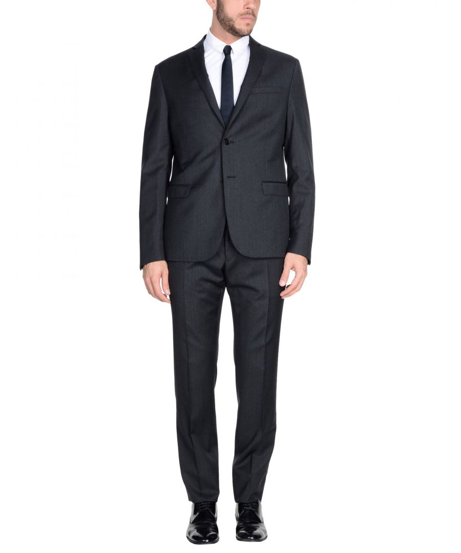 Image for Lab. Pal Zileri Steel Grey Wool Single Breasted Suit