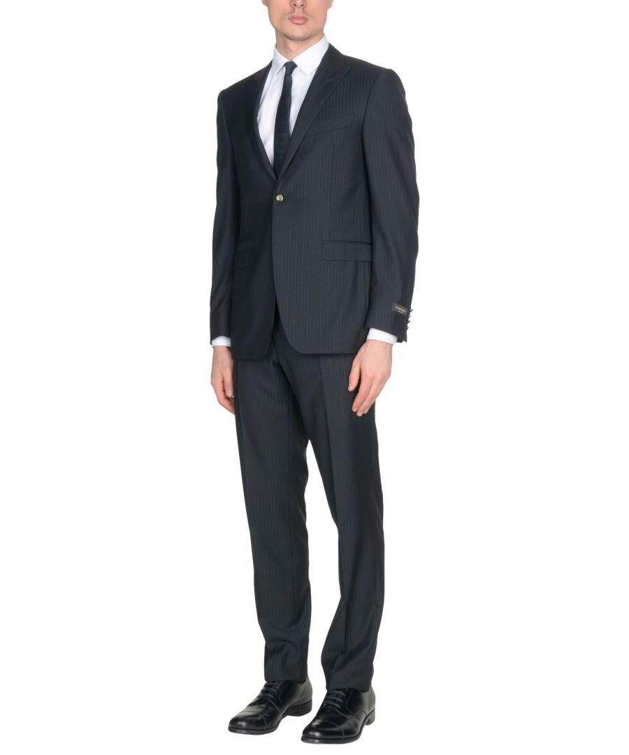 Image for Canali Black Virgin Wool Single Breasted Suit