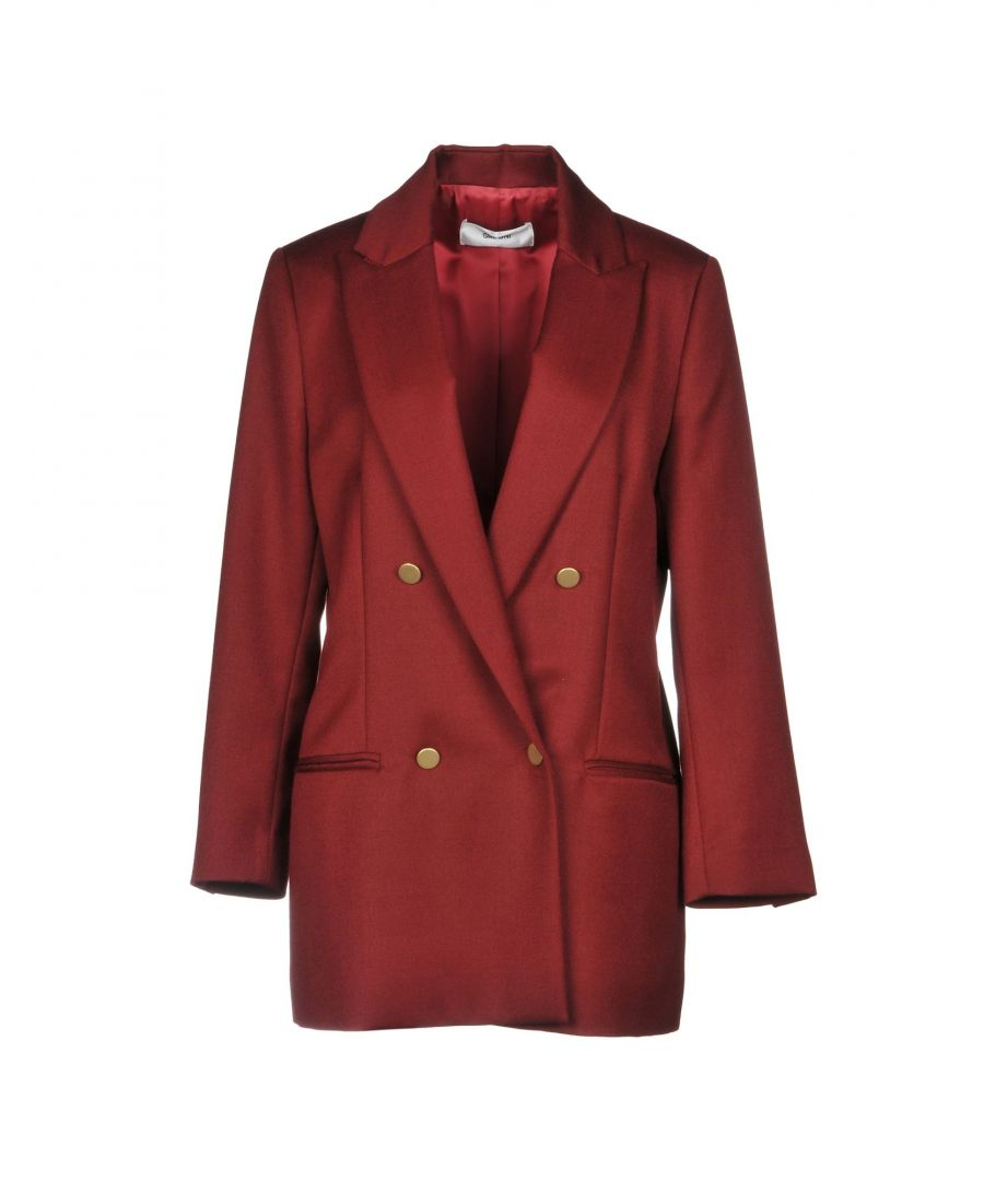 Image for Mauro Grifoni Maroon Virgin Wool Double Breasted Jacket
