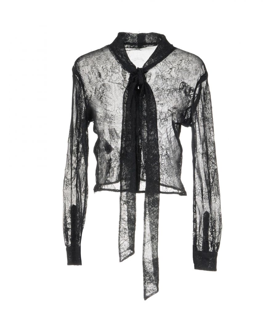 Image for Moschino Black Cotton Lace Blouse