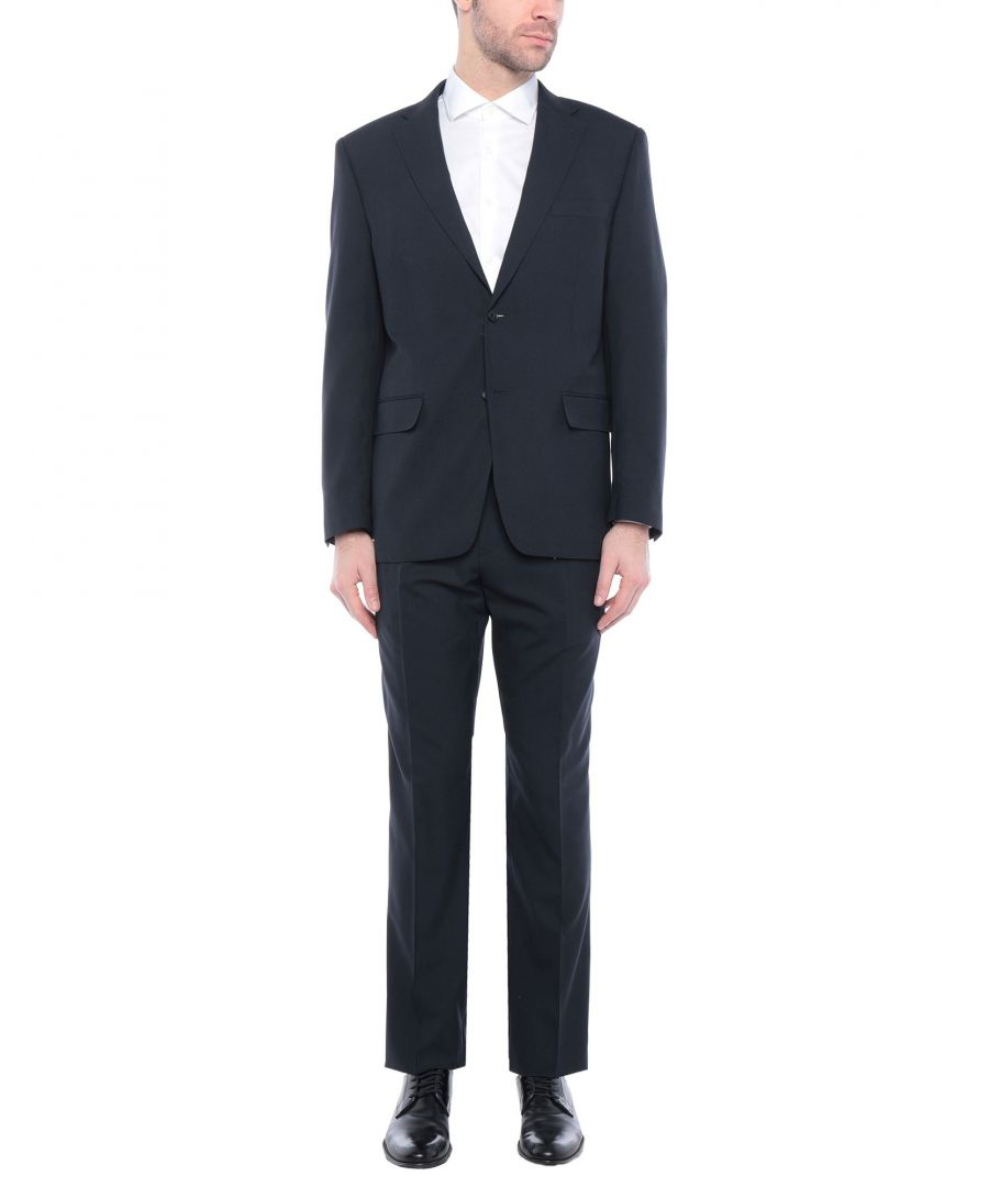 Image for Tru Trussardi Dark Blue Virgin Wool Single Breasted Suit