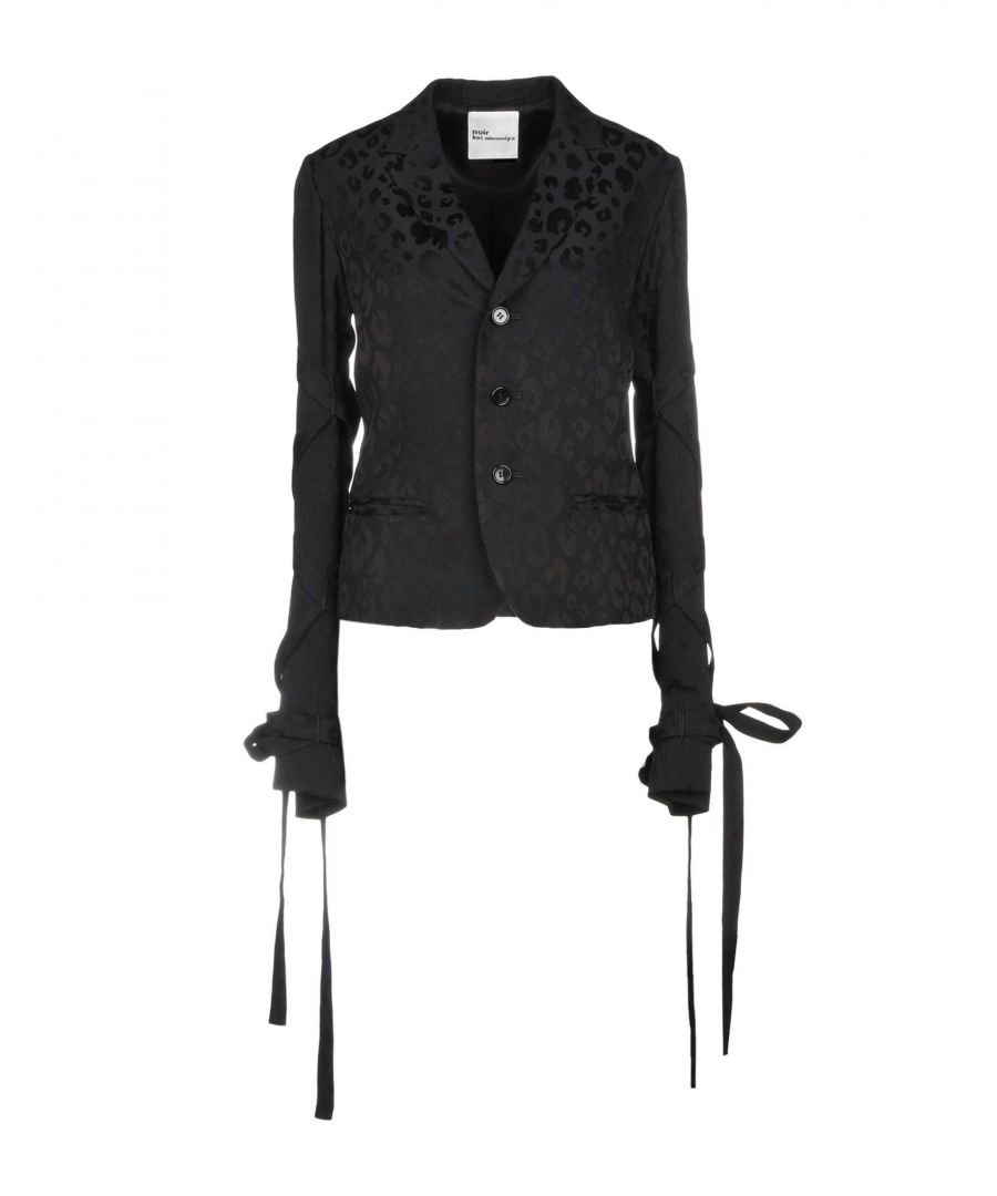 Image for Noir Kei Ninomiya Black Wool Jacquard Jacket
