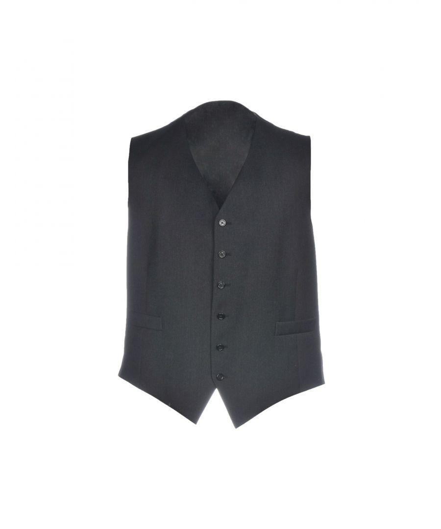 Image for Burberry Steel Grey Super 100s Wool Waistcoat