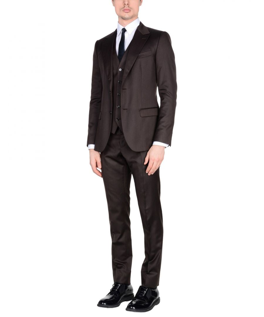 Image for Dolce & Gabbana Dark Brown Virgin Wool Single Breasted Three Piece Suit