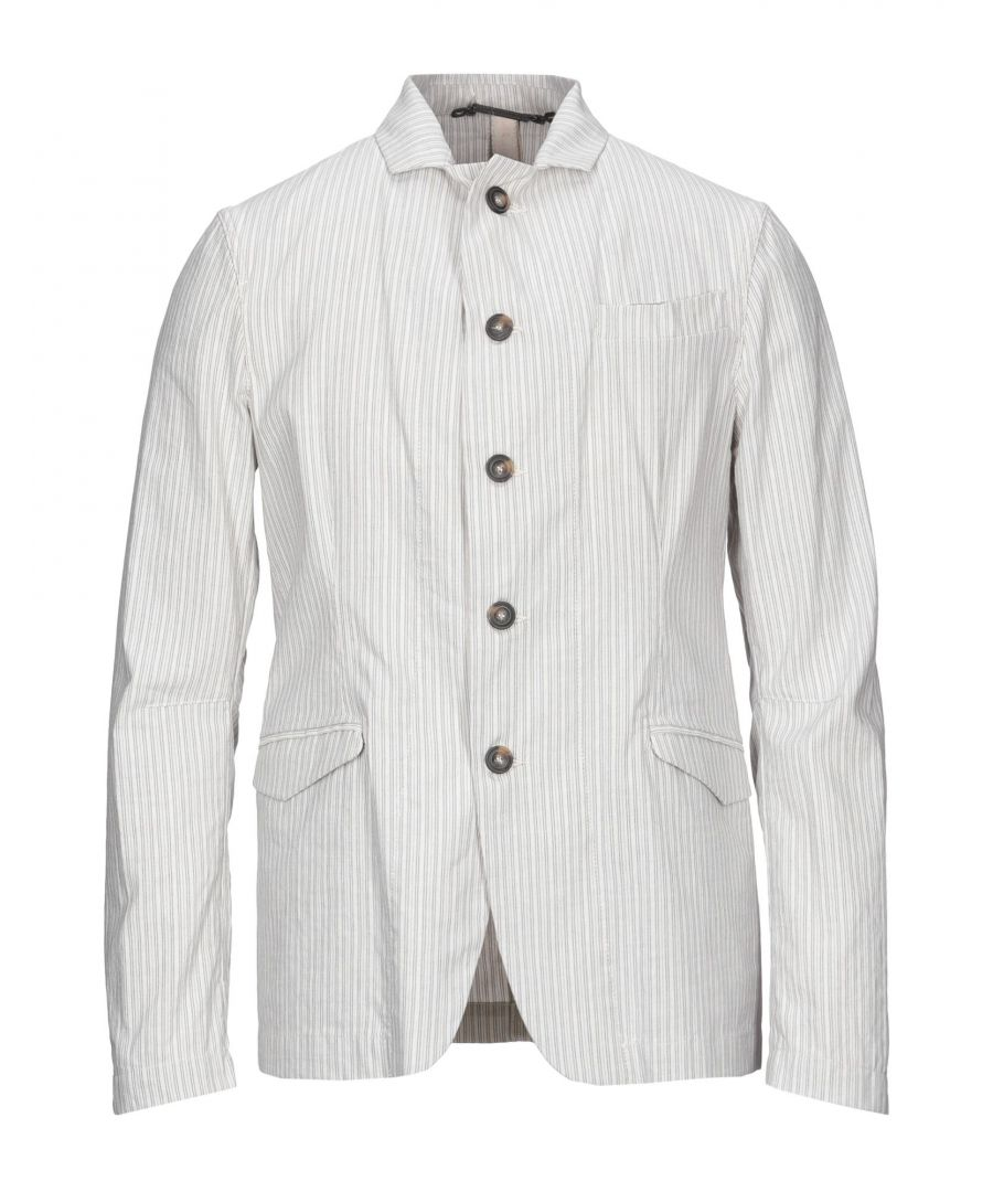 Image for Messagerie Ivory Stripe Cotton Single Breasted Jacket