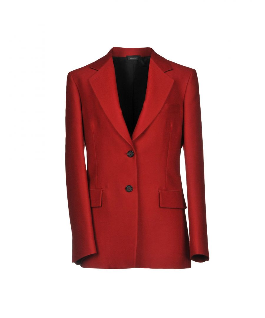 Image for Jil Sander Red Virgin Wool Single Breasted Blazer