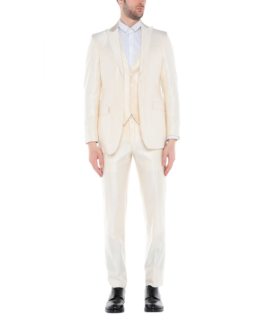 Image for CC Collection Corneliani Ivory Single Breasted Three Piece Suit