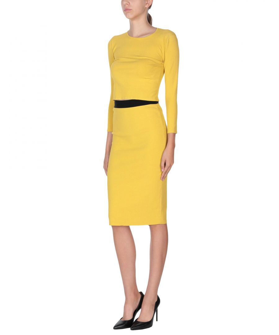 Image for SUITS AND JACKETS Woman Les Copains Yellow Viscose
