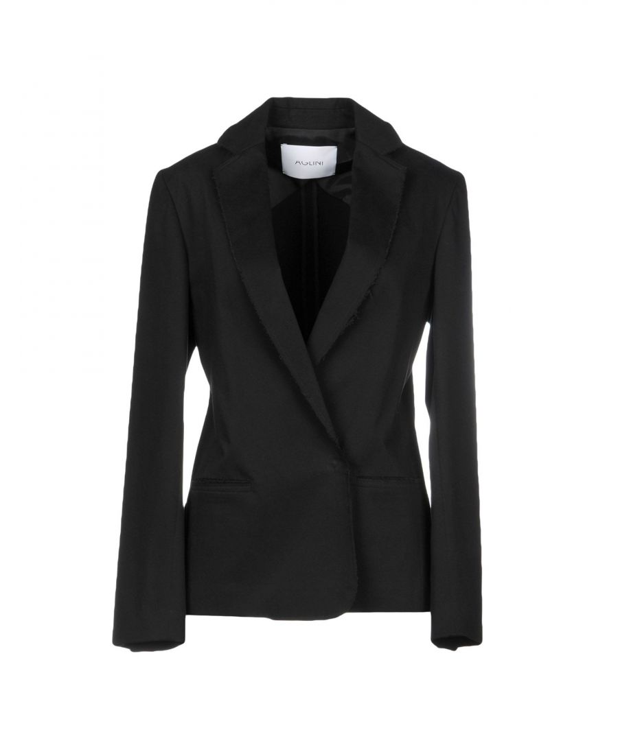 Image for Aglini Black Cotton Double Breasted Jacket