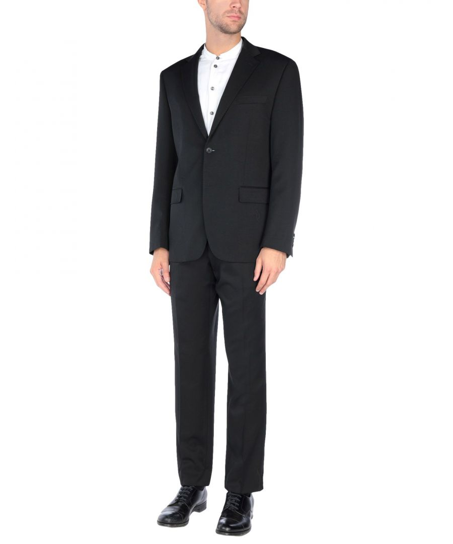 Image for Tru Trussardi Black Virgin Wool Single Breasted Suit