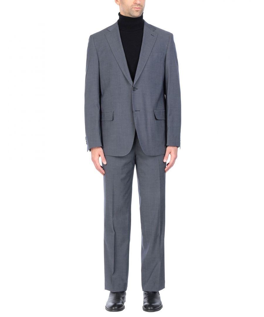 Image for Tru Trussardi Grey Virgin Wool Single Breasted Suit