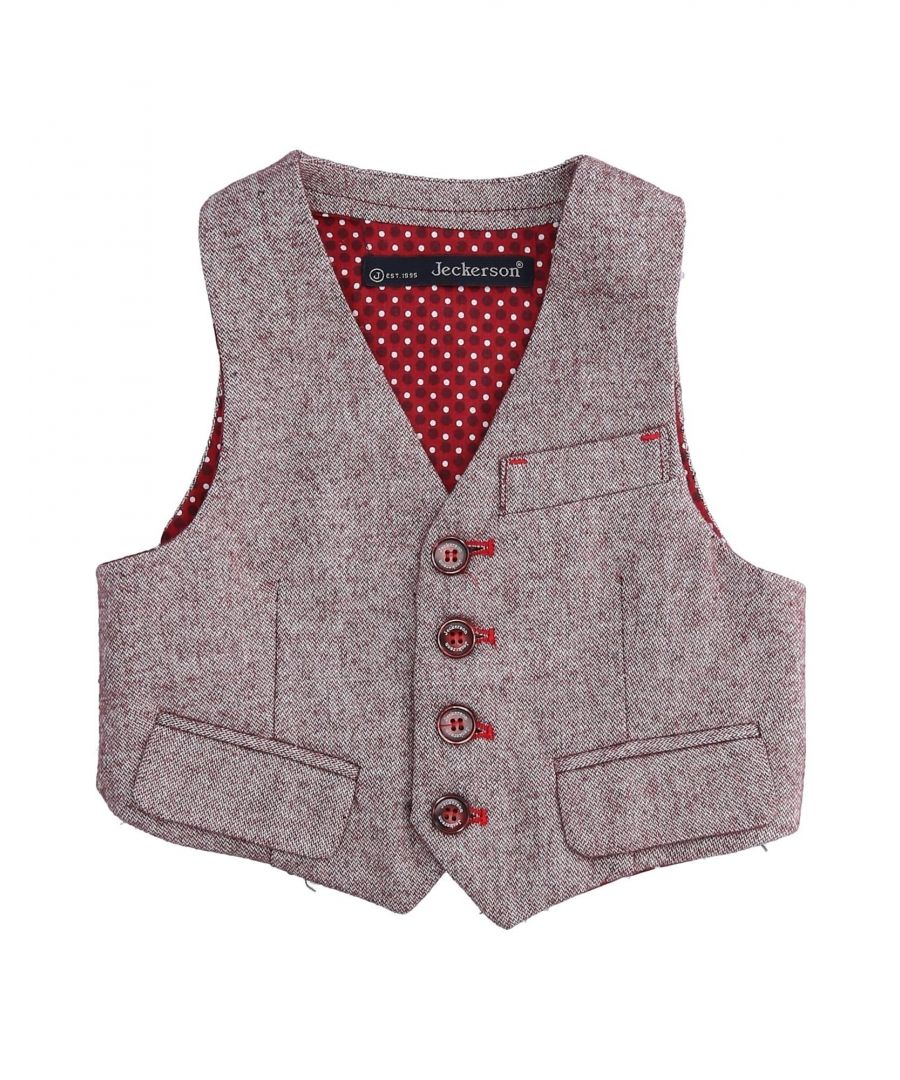 Image for SUITS AND JACKETS Boy Jeckerson Maroon Cotton