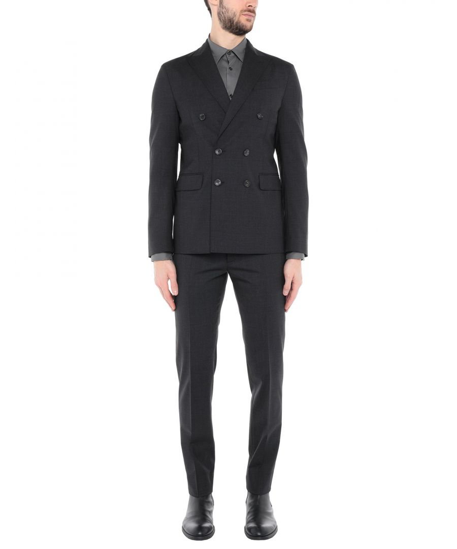 Image for Dsquared2 Steel Grey Virgin Wool Double Breasted Suit