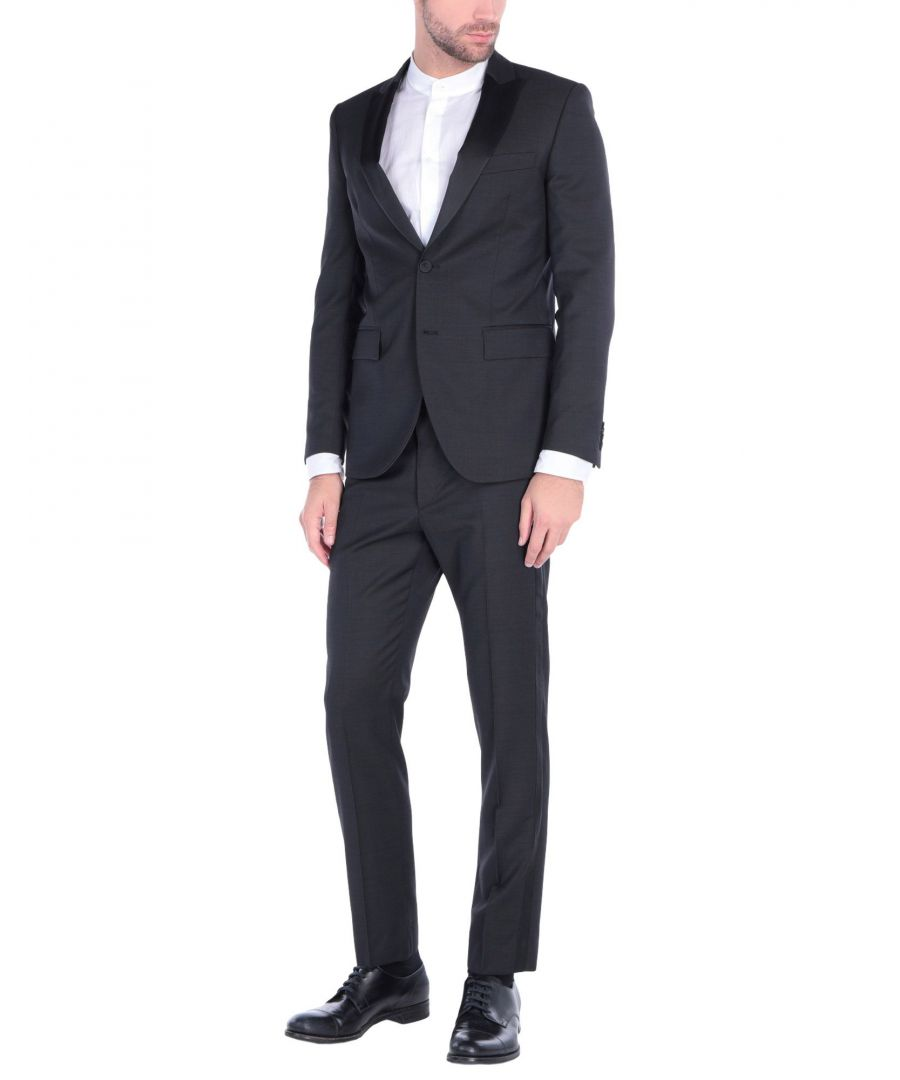 Image for Mauro Grifoni Black Virgin Wool Single Breasted Suit