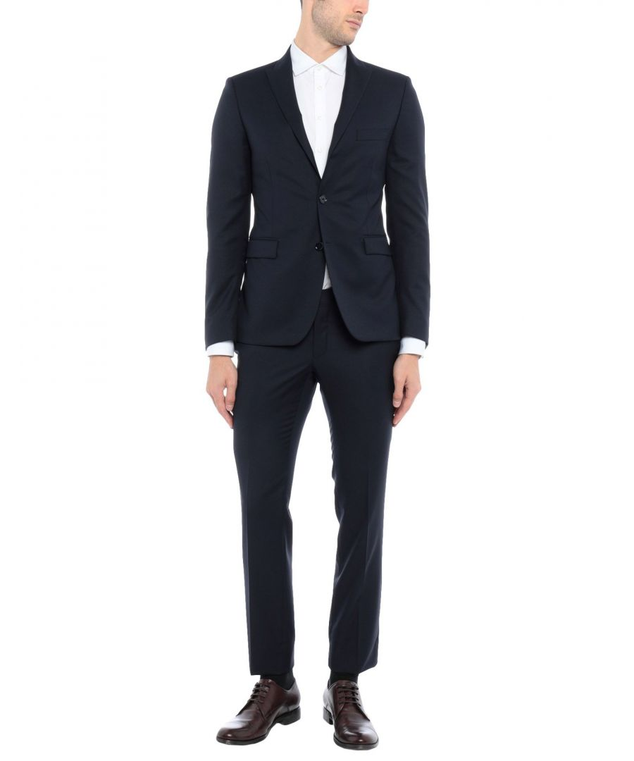 Image for Tagliatore Dark Blue Wool Single Breasted Suit