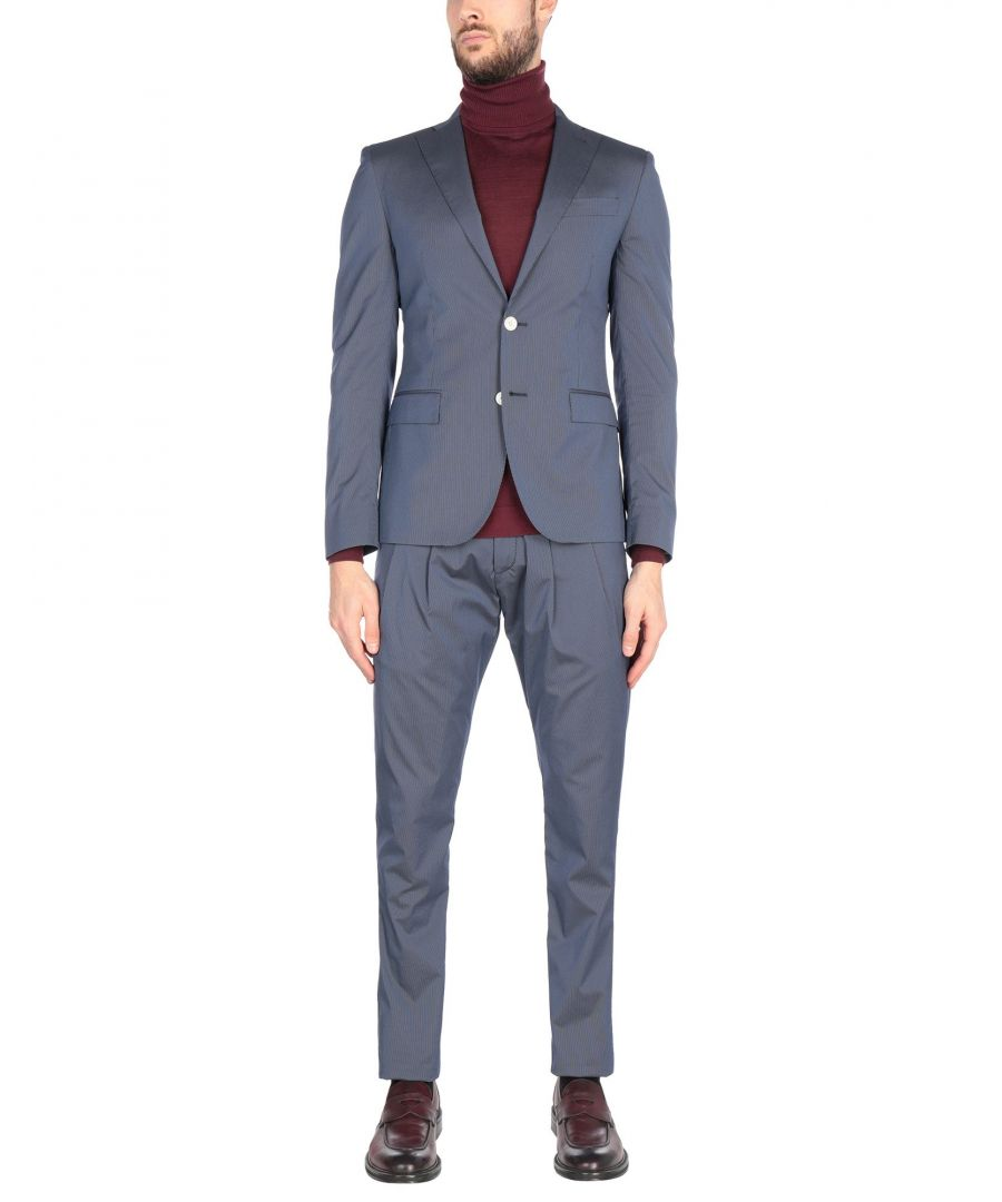 Image for Cc Collection Corneliani Blue Cotton Single Breasted Suit