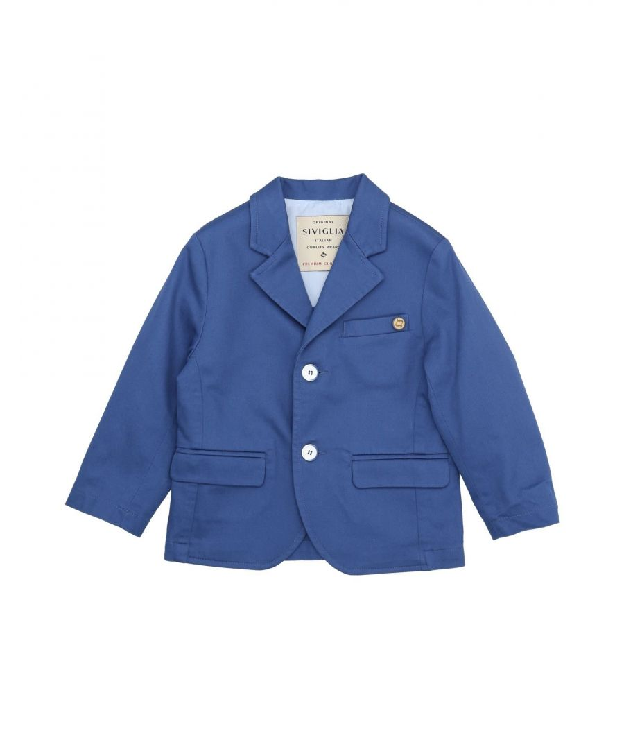 Image for SUITS AND JACKETS Boy Siviglia Blue Cotton