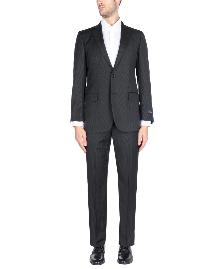 Image for Brooks Brothers Steel Grey Wool Single Breasted Suit