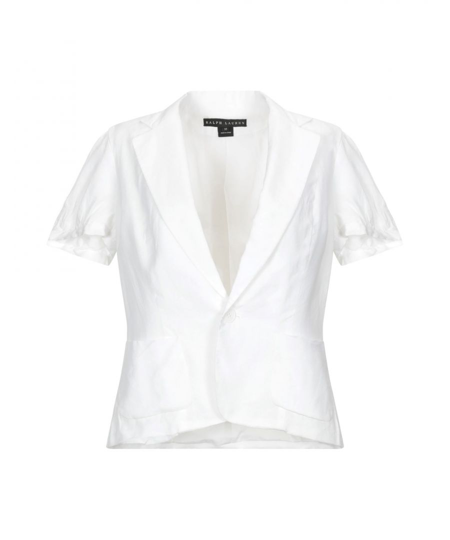 Image for Ralph Lauren Black Label White Single Breasted Short Sleeve Jacket
