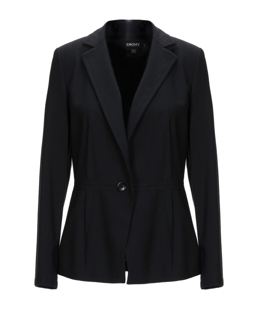 Image for DKNY Black Wool Single Breasted Jacket