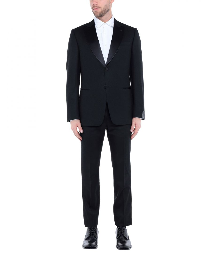 Image for Zzegna Black Wool Single Breasted Suit