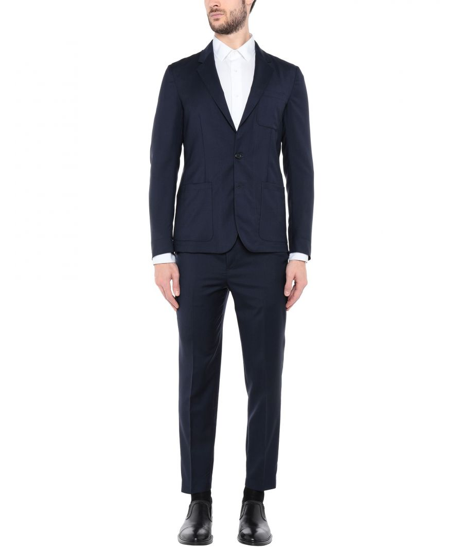 Image for Mauro Grifoni Dark Blue Virgin Wool Single Breasted Suit