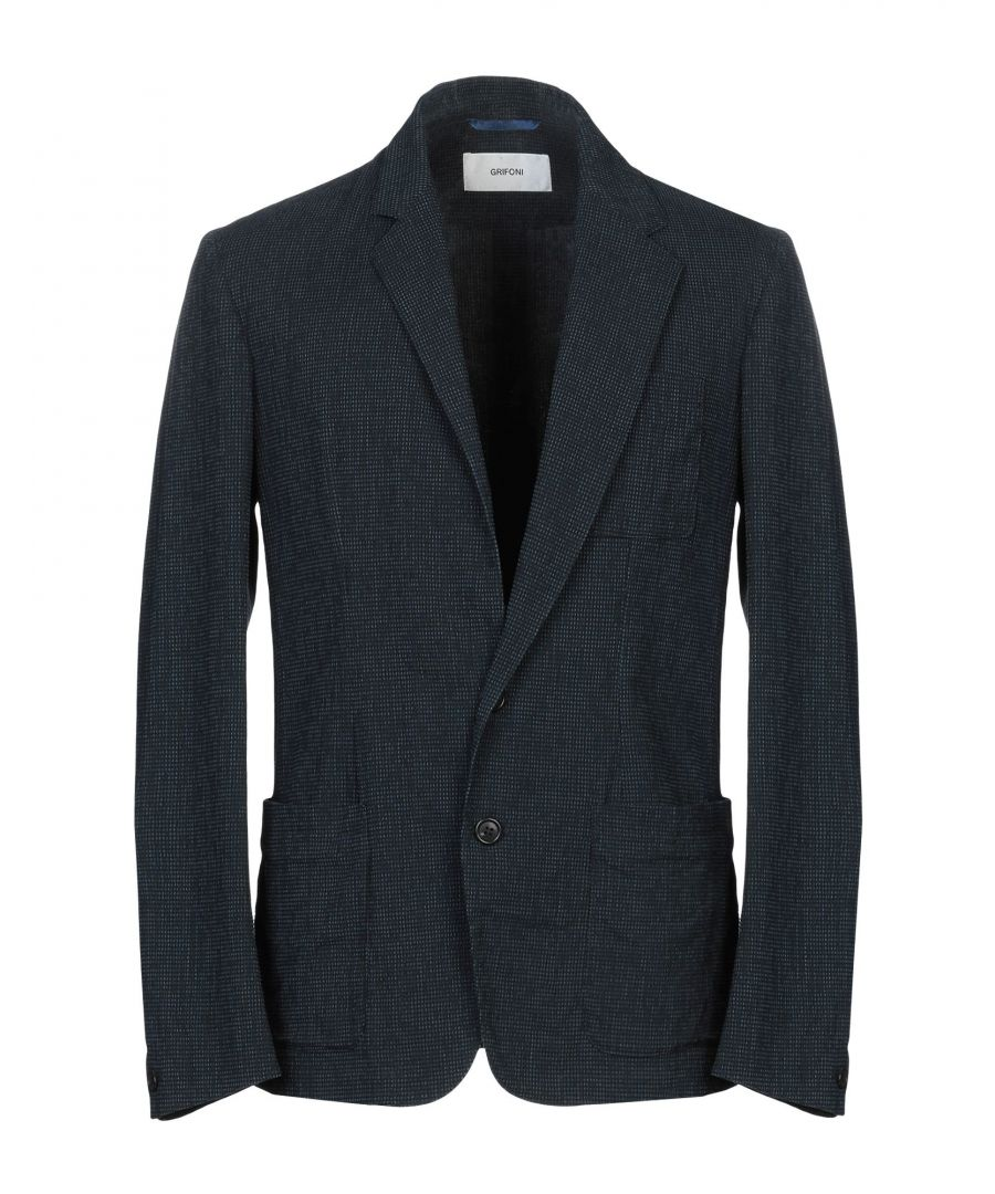 Image for Mauro Grifoni Blue Cotton Single Breasted Jacket