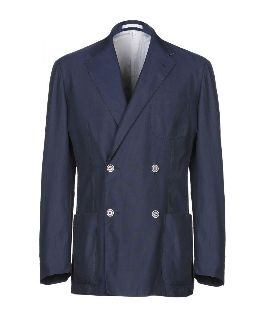Image for Corneliani Id Dark Blue Silk Double Breasted Jacket