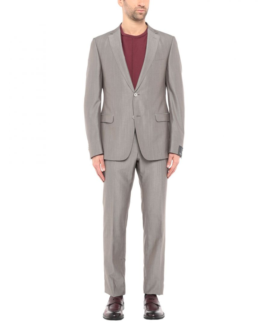 Image for Zzegna Khaki Wool Single Breasted Suit
