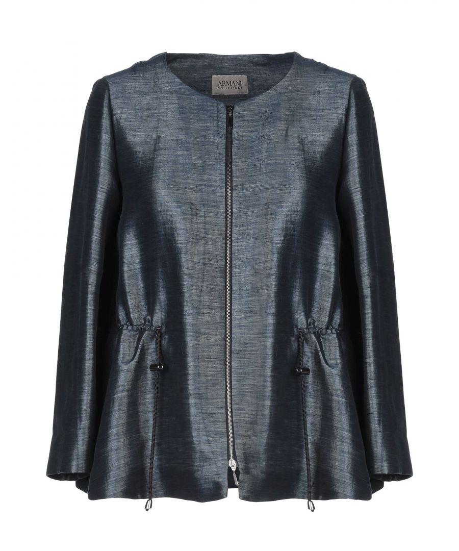 Image for Armani Collezioni Blue Linen Jacket