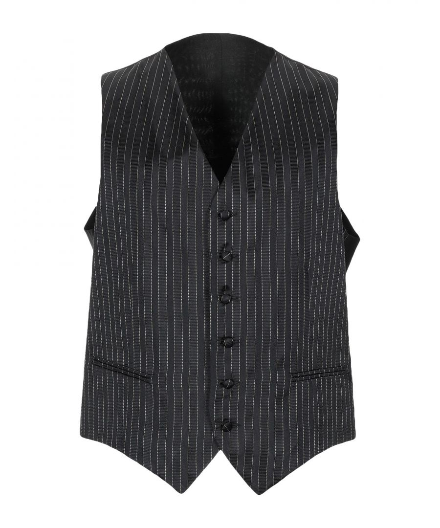 Image for SUITS AND JACKETS Man Corneliani Black Silk