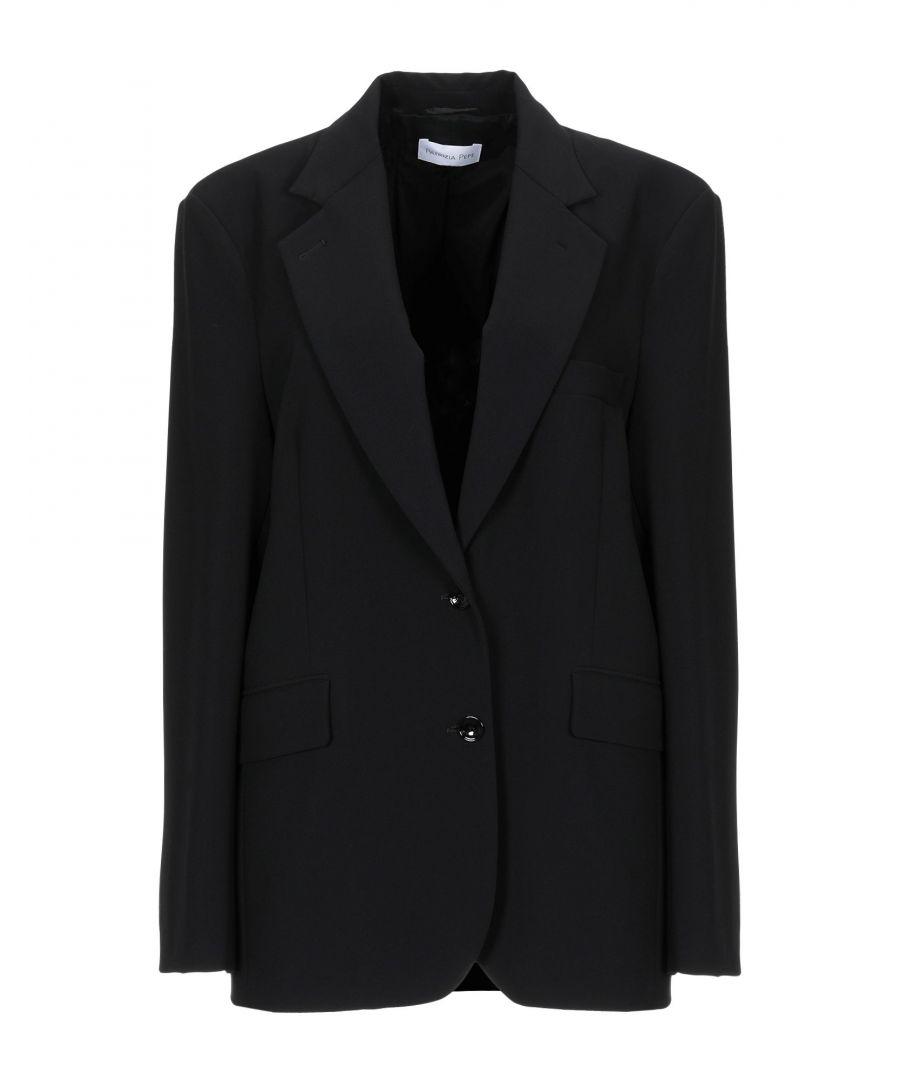 Image for Patrizia Pepe Black Crepe Single Breasted Jacket