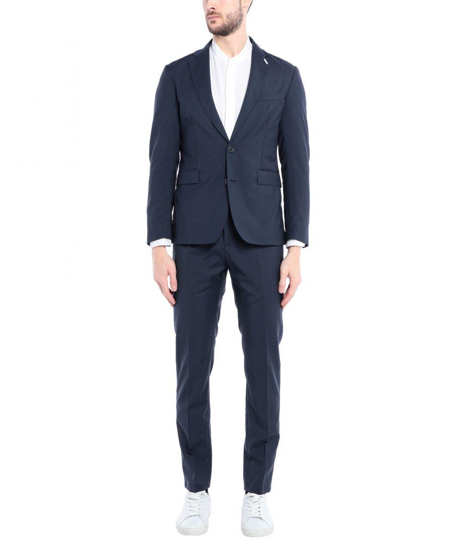 Image for Aglini Dark Blue Virgin Wool Single Breasted Suit