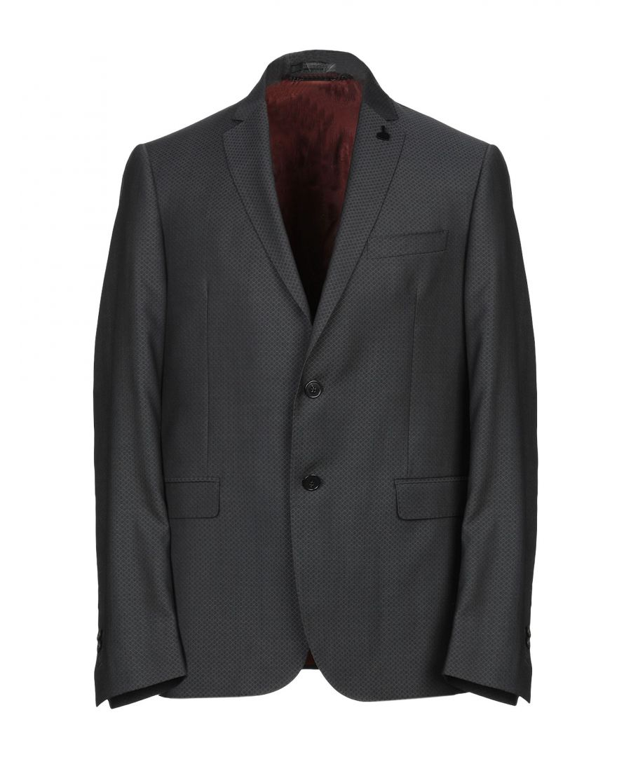 Image for Messagerie Steel Grey Virgin Wool Single Breasted Jacket