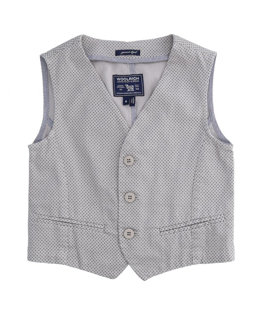 Image for SUITS AND JACKETS Boy Woolrich Grey Cotton