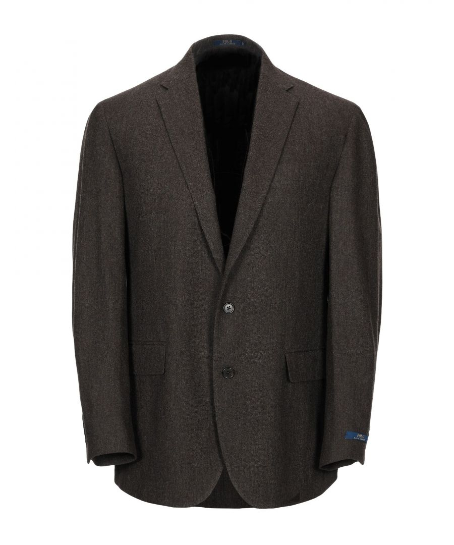 Image for Polo Ralph Lauren Dark Brown Wool Single Breasted Jacket
