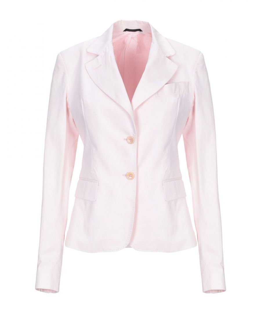 Image for Daniele Alessandrini Pink Cotton Single Breasted Blazer