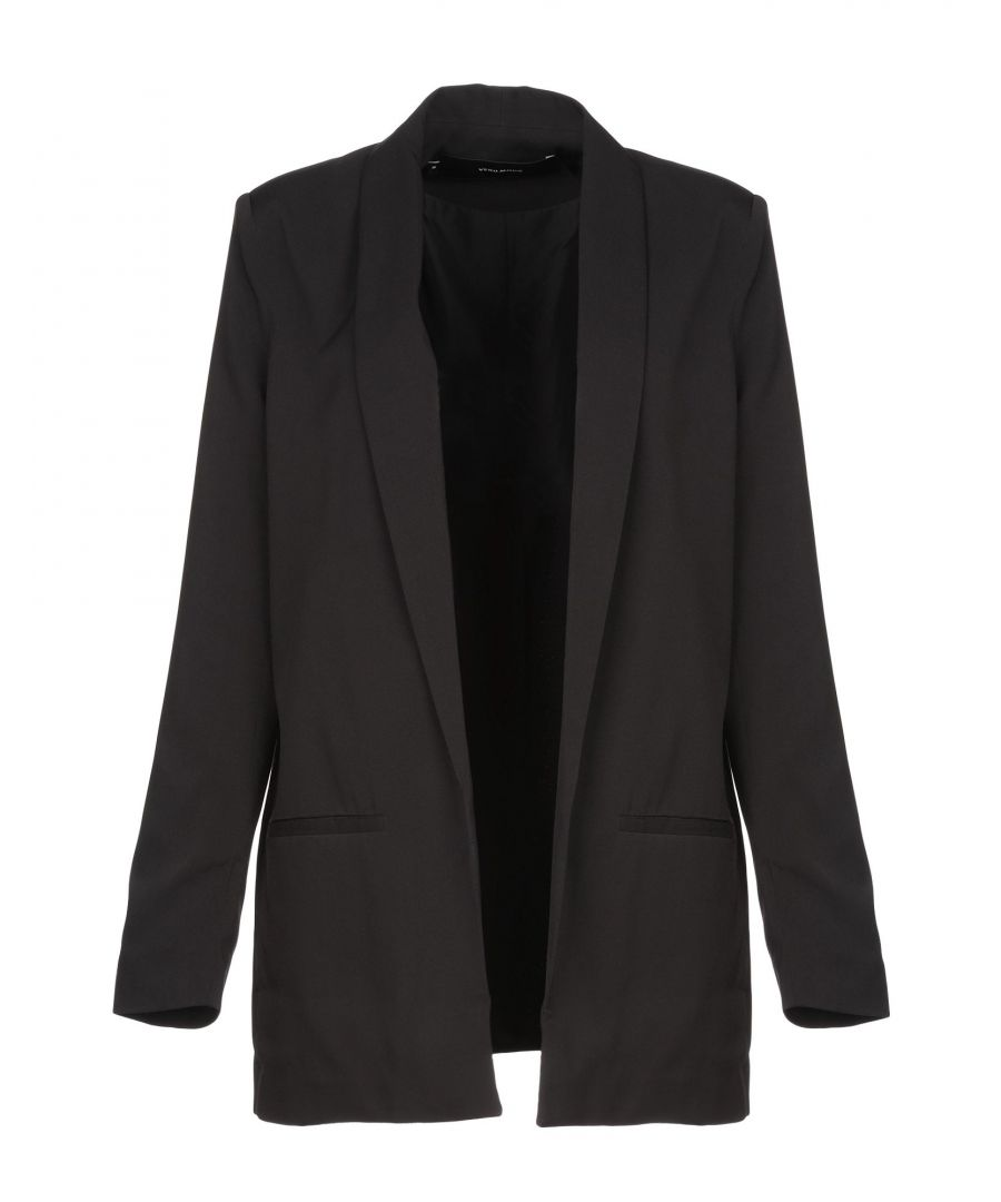 Image for Vero Moda Black Recycled Polyester Single Breasted Jacket