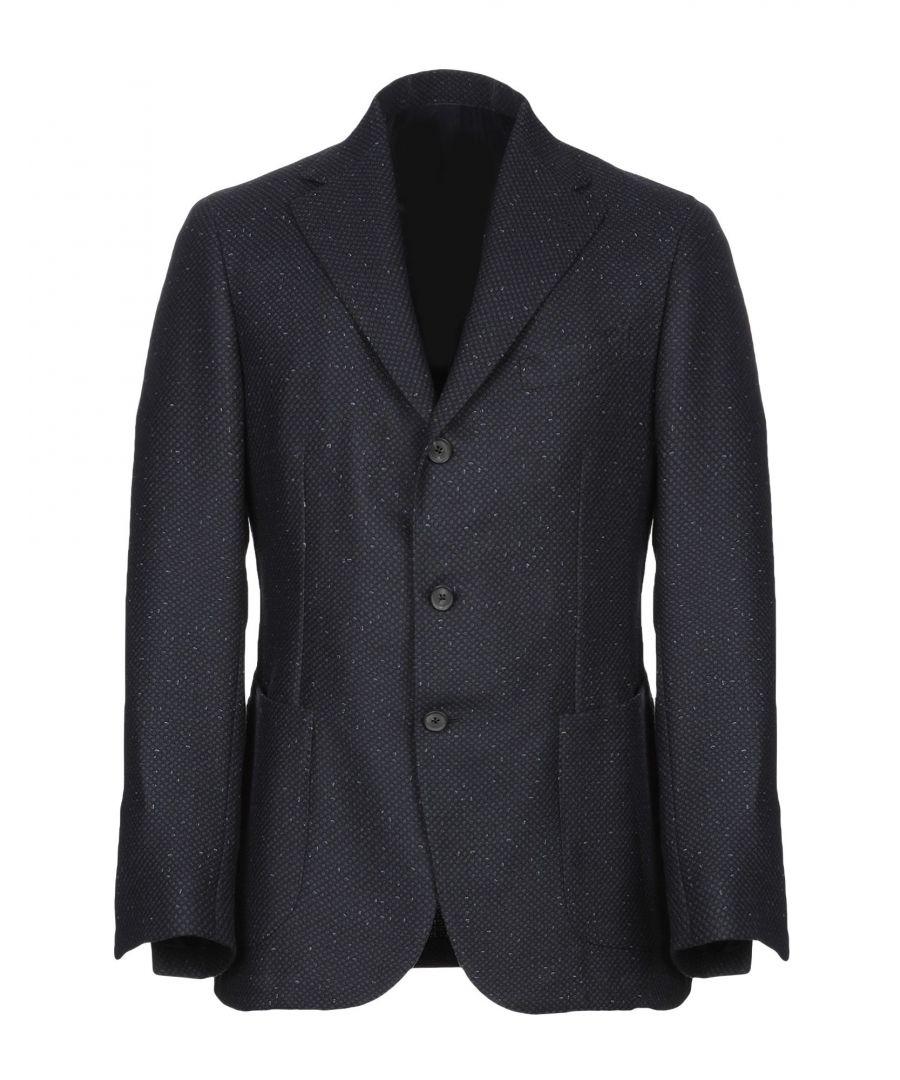 Image for Luigi Borrelli Napoli Dark Blue Virgin Wool Single Breasted Blazer
