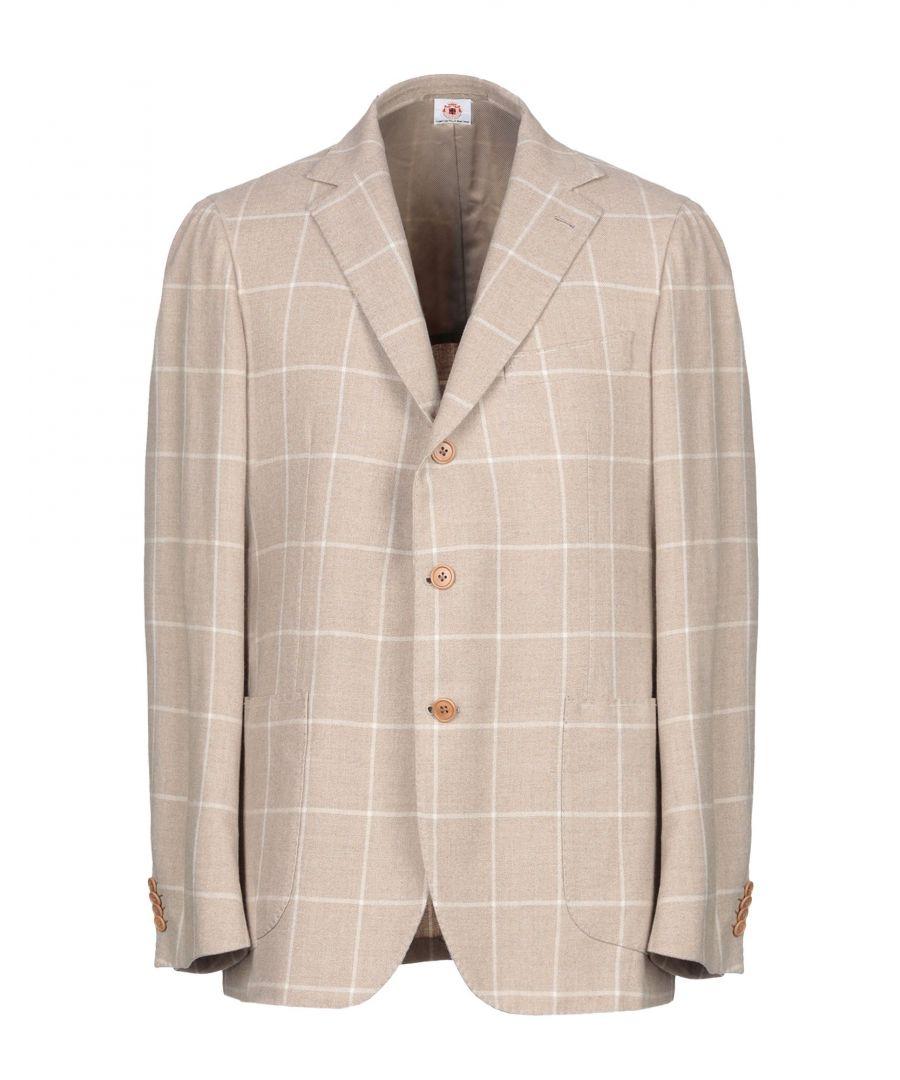 Image for Luigi Borrelli Napoli Sand Wool Single Breasted Jacket
