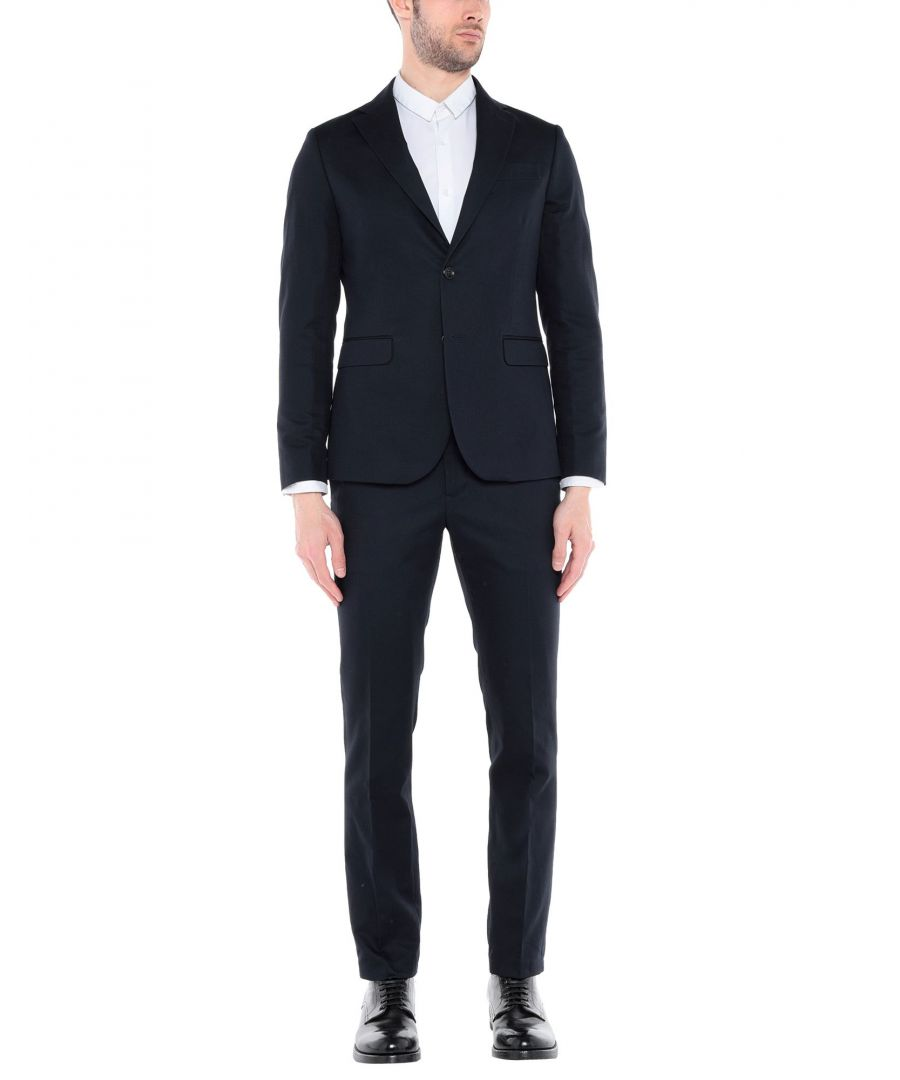 Image for Marciano Dark Blue Cotton Single Breasted Suit