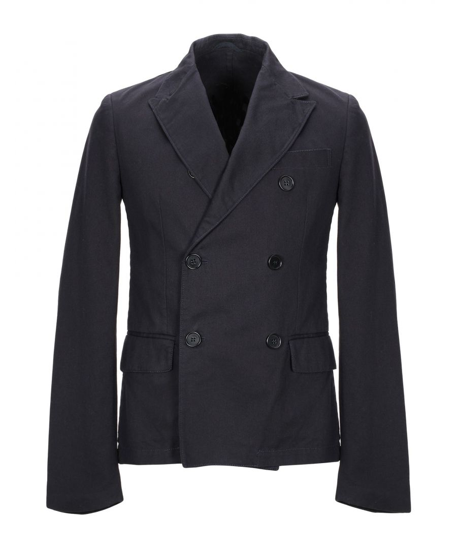 Image for Aspesi Dark Blue Cotton Double Breasted Jacket