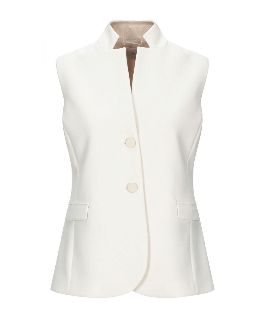 Image for Merci Ivory Crepe Sleeveless Jacket